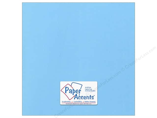 Paper Accents Cardstock 12 x 12 in. Canvas Madras Blue (25 sheets)