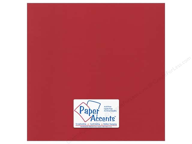 Cardstock 12 x 12 in. Canvas Firecracker by Paper Accents (25 sheets)