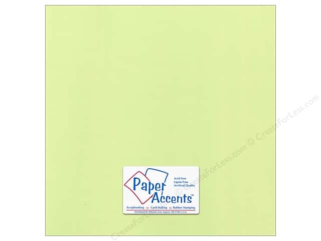 Paper Accents Cardstock 12 x 12 in. Canvas Lime Pop (25 sheets)