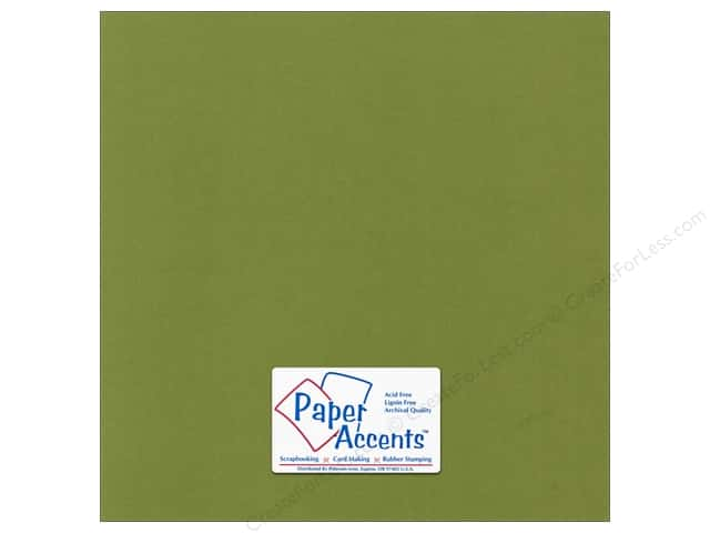 Paper Accents Cardstock 12 x 12 in. Canvas Spanish Moss (25 sheets)