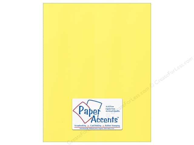 Paper Accents Cardstock 8 1/2 x 11 in. #54412 Canvas Yellow Corn (25 sheets)