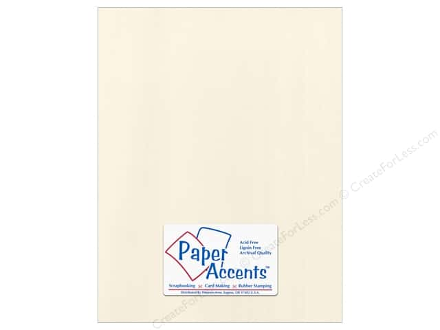Cardstock 8 1/2 x 11 in. Canvas Ecru by Paper Accents (25 sheets)