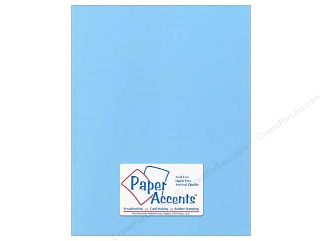Paper Accents Cardstock 8 1/2 x 11 in. #57728 Canvas Madras Blue (25 sheets)