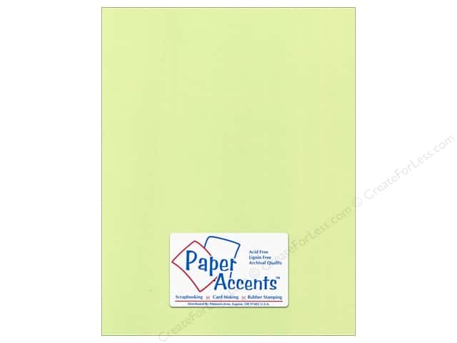 Paper Accents Cardstock 8 1/2 x 11 in. #55517 Canvas Lime Pop (25 sheets)