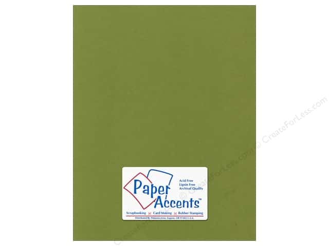Cardstock 8 1/2 x 11 in. Canvas Spanish Moss by Paper Accents (25 sheets)