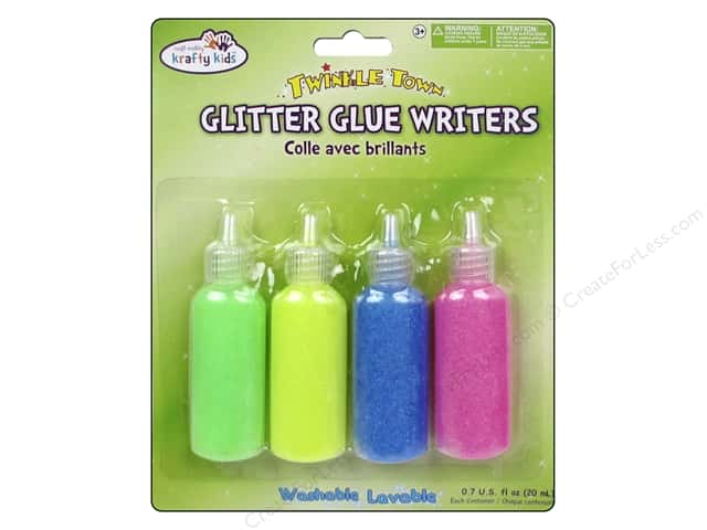 Multicraft Adhesive Glitter Glue Writers Pastels