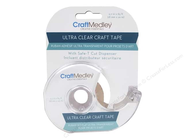 Multicraft Adhesive Craft Tape Ultra Clear 65'