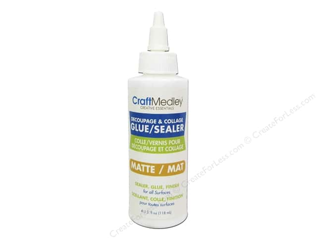 Multicraft Adhesive Decoupage & Collage Glue/Sealer Matte 4oz