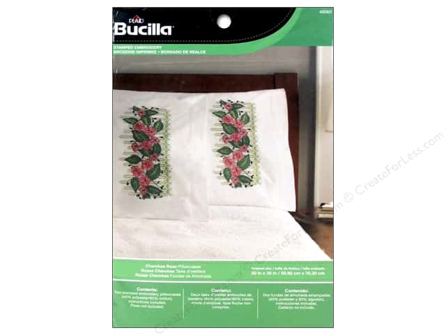 Bucilla Stamped Embroidery Pillowcase Cherokee Rose