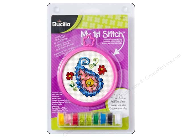 Bucilla Counted Cross Stitch Kit 3 in. My 1st Stitch Floral Paisley