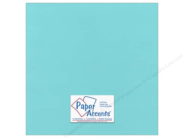 Cardstock 12 x 12 in. Canvas Seafoam by Paper Accents (25 sheets)