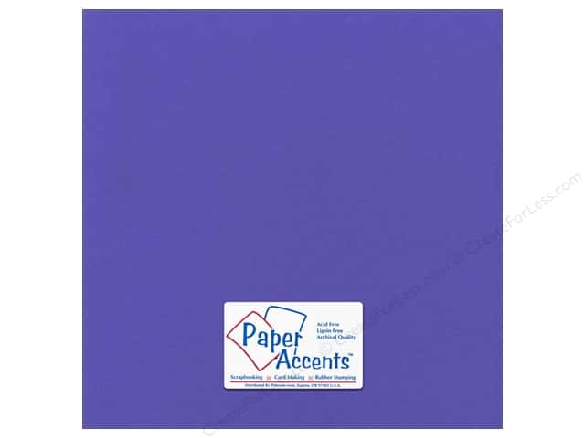 Paper Accents Cardstock 12 x 12 in. Canvas Comodore Blue (25 sheets)