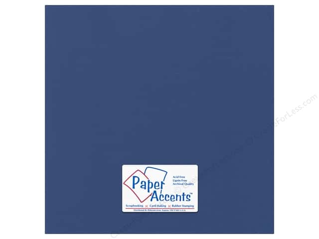 Paper Accents Cardstock 12 x 12 in. Canvas Deep Indigo (25 sheets)