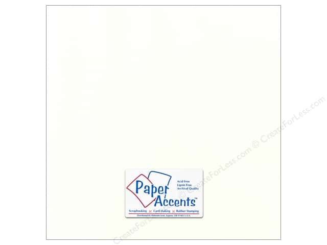 Cardstock 12 x 12 in. Canvas Muslin by Paper Accents (25 sheets)