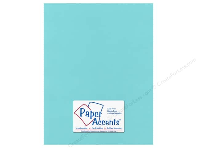 Paper Accents Cardstock 8 1/2 x 11 in. #55525 Canvas Seafoam (25 sheets)