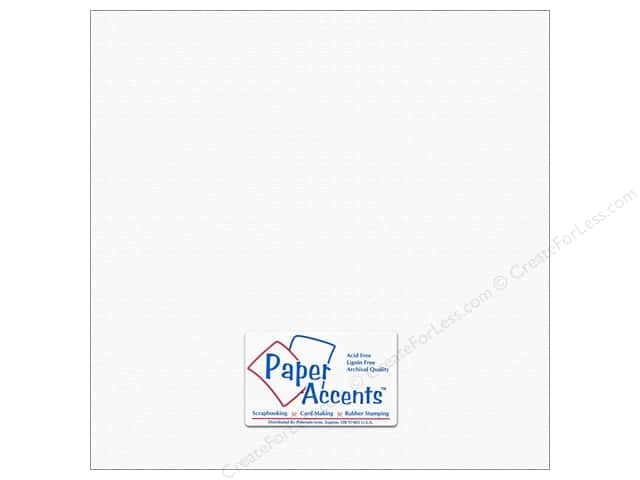 Paper Accents Cardstock 12 x 12 in. #5101018 Canvas Snowbound (25 sheets)