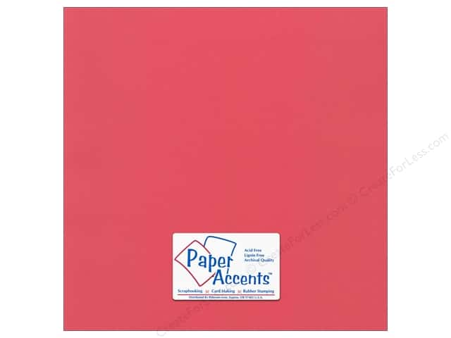 Paper Accents Cardstock 12 x 12 in. #51114 Canvas Pimento (25 sheets)