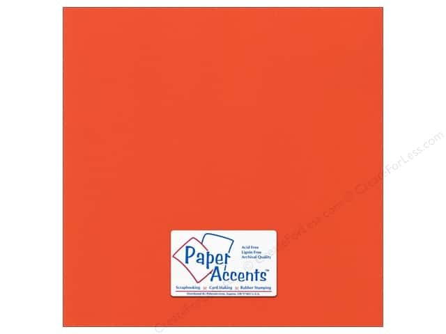 Paper Accents Cardstock 12 x 12 in. #53309 Canvas Harvest Orange (25 sheets)