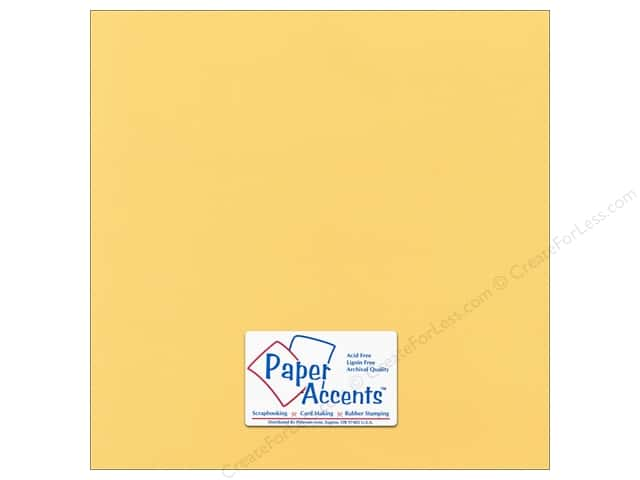 Paper Accents Cardstock 12 x 12 in. # 54410 Canvas Tuscan Sun (25 sheets)