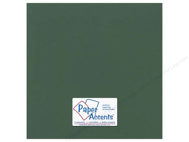 Paper Accents Cardstock 12 x 12 in. #55522 Canvas Evergreen (25 sheets)