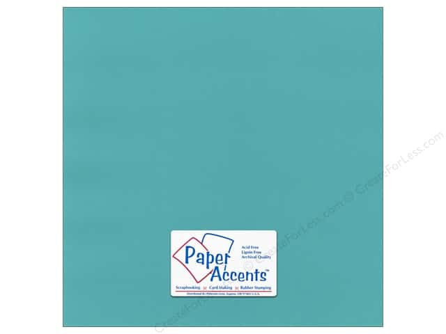Paper Accents Cardstock 12 x 12 in. #55526 Canvas Caribbean Sea (25 sheets)