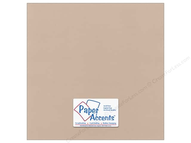 Paper Accents Cardstock 12 x 12 in. #58811 Canvas Sandy Beach (25 sheets)