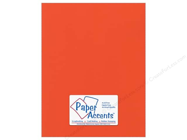 Cardstock 8 1/2 x 11 in. Canvas Harvest Orange by Paper Accents (25 sheets)