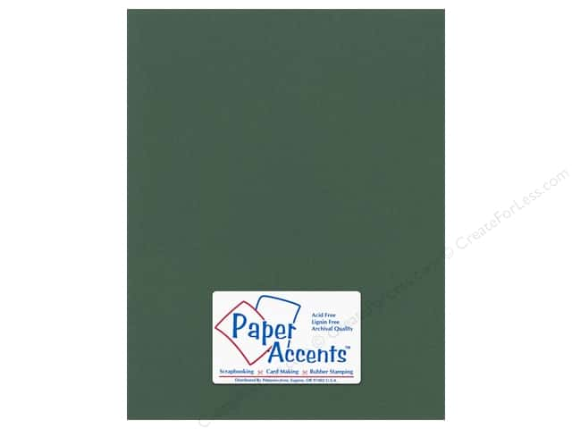 Cardstock 8 1/2 x 11 in. Canvas Evergreen by Paper Accents (25 sheets)