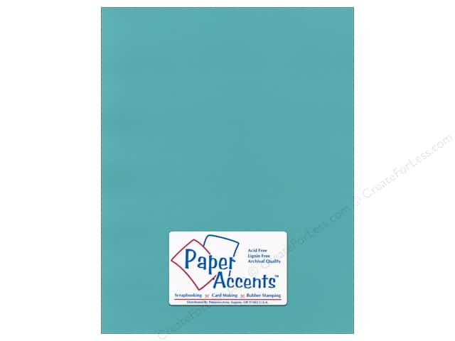 Paper Accents Cardstock 8 1/2 x 11 in. #55526 Canvas Caribbean Sea (25 sheets)