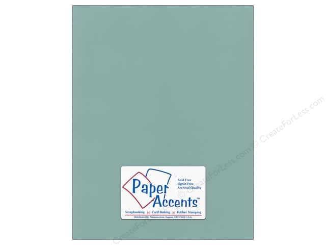 Cardstock 8 1/2 x 11 in. Canvas Aquamarine by Paper Accents (25 sheets)