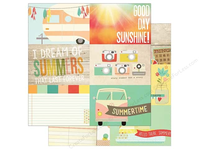 Simple Stories 12 x 12 in. Paper Summer Vibe 4 x 6 in. Journal Cards (25 sheets)