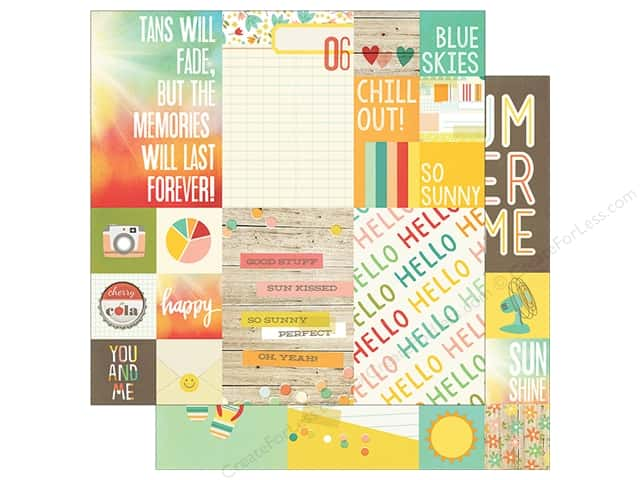 Simple Stories 12 x 12 in. Paper Summer Vibe Element 2 x 2 & 4 x 6 in. (25 sheets)