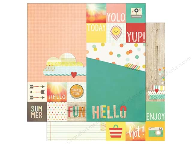 Simple Stories 12 x 12 in. Paper Summer Vibe Element 2 x 2 in. & 6 x 8 in. (25 sheets)