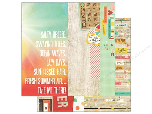 Simple Stories 12 x 12 in. Paper Summer Vibe Element #3 (25 sheets)