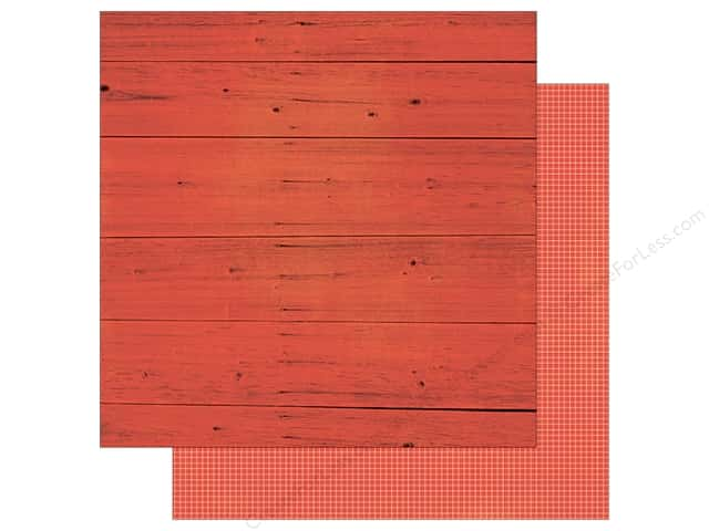 Simple Stories 12 x 12 in. Paper Summer Vibe Wood & Grid Red (25 sheets)