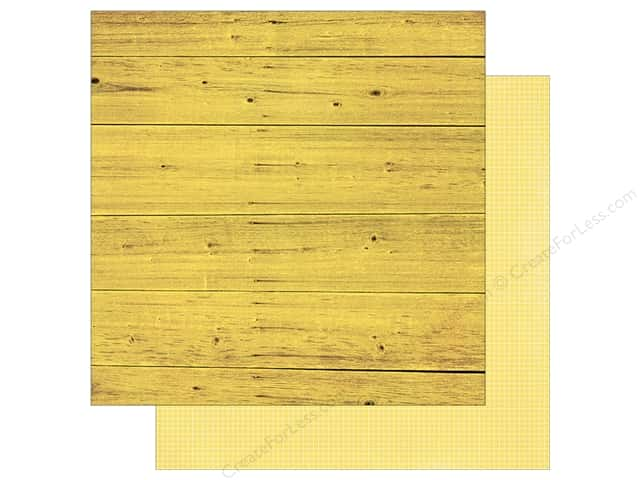 Simple Stories 12 x 12 in. Paper Summer Vibe Wood & Grid Yellow (25 sheets)