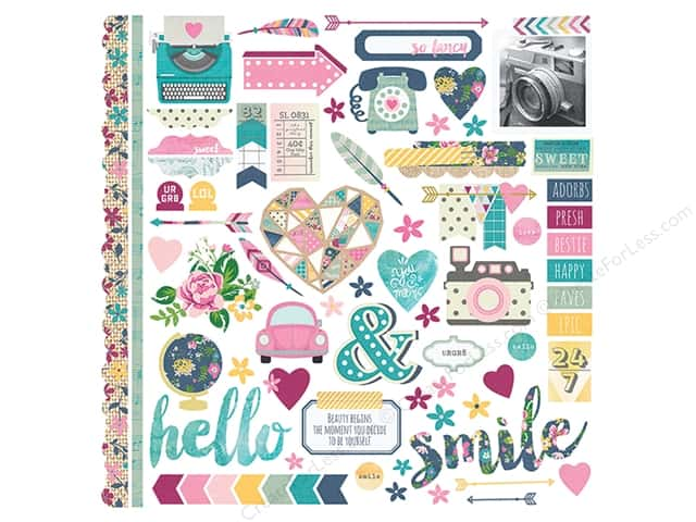 Simple Stories Collection So Fancy Sticker Fundamentals (12 sheets)