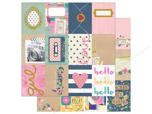 "Simple Stories Collection So Fancy Paper 12""x 12"" Foil Journal 3""x 4"" (25 sheets)"