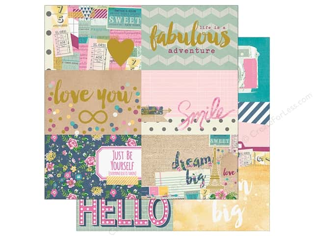 "Simple Stories Collection So Fancy Paper 12""x 12"" Foil Journal 4""x 6"" (25 sheets)"
