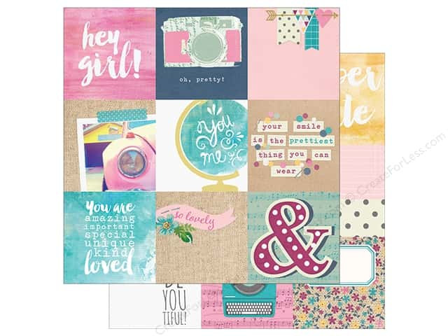 "Simple Stories Collection So Fancy Paper 12""x 12"" Element 4""x 4"" (25 sheets)"