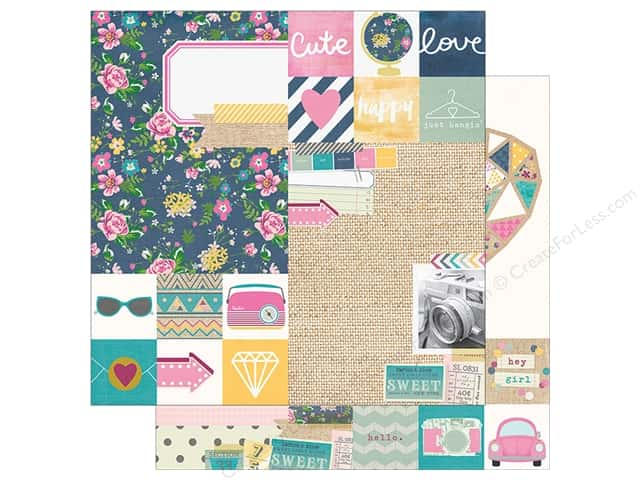 "Simple Stories Collection So Fancy Paper 12""x 12"" Element Assorted (25 sheets)"
