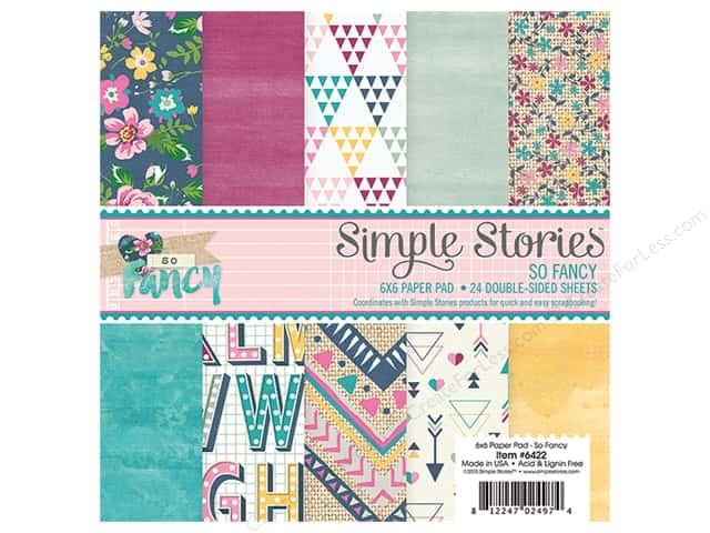 "Simple Stories Collection So Fancy Paper Pad 6""x 6"""