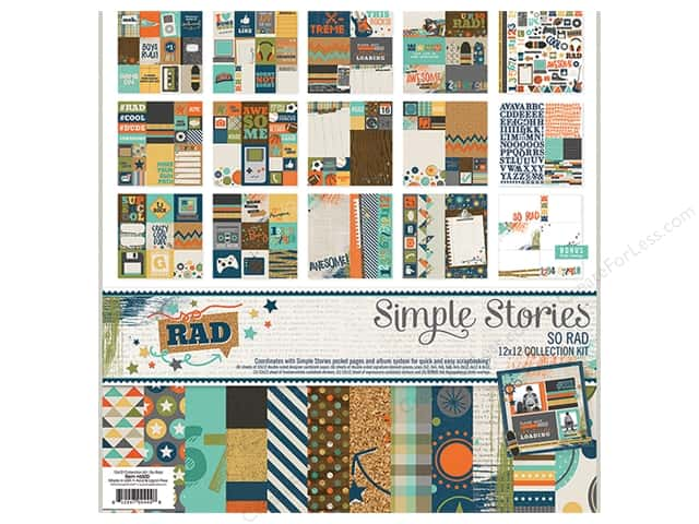 Simple Stories 12 x 12 in. Collection Kit So Rad