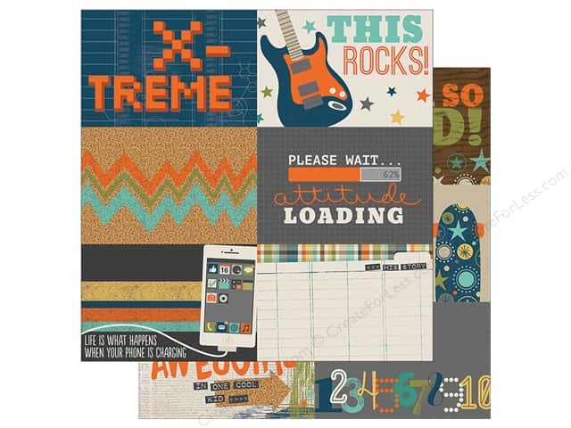 Simple Stories 12 x 12 in. Paper So Rad 4x6 Horizontal Journaling Card Elements (25 sheets)