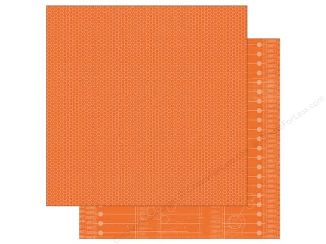 Simple Stories 12 x 12 in. Paper So Rad Orange Honeycomb & Code (25 sheets)