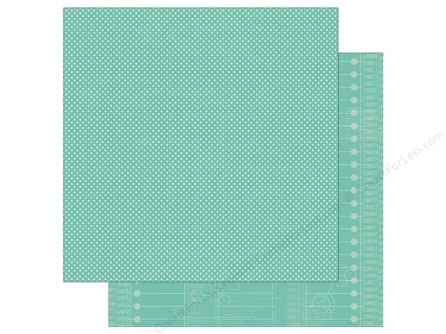 Simple Stories 12 x 12 in. Paper So Rad Teal Dot & Code (25 sheets)