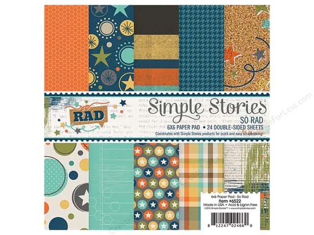 Simple Stories 6 x 6 in. Paper Pad So Rad Collection