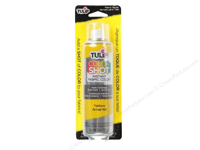 Tulip Color Shot Fabric Spray Paint 3 oz. Yellow