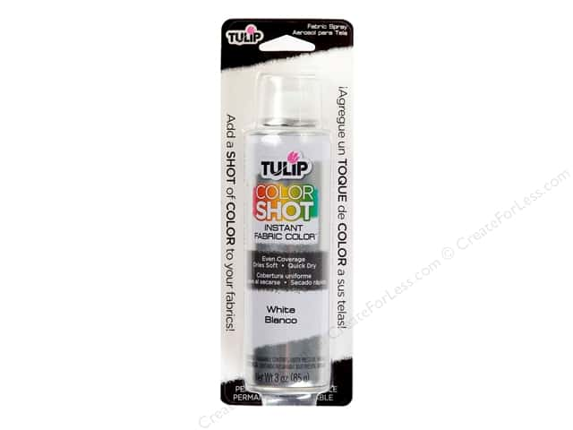 Tulip Color Shot Fabric Spray Paint 3 oz. White