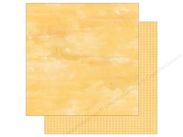 "Simple Stories Collection So Fancy Paper 12""x 12"" Triangle Yellow (25 sheets)"